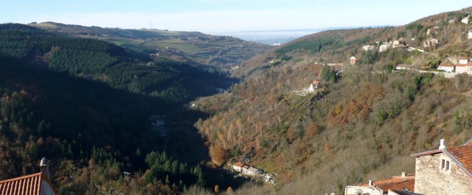 Vue panoramique depuis l'auberge