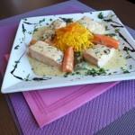 Blanquette de saumon et ses petits légumes
